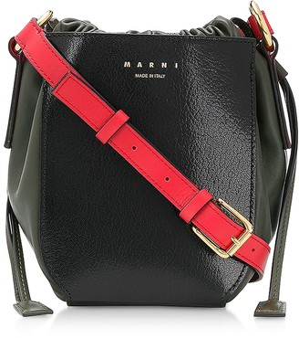 Marni Color Block Leather Shoulder Bag