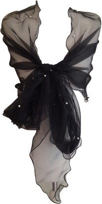 Central Chic Black Long Pearl Embellished Wrap Shawl Stole Scarf For Weddings Bridal Bridesmaids & Evening Wear