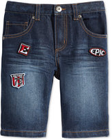 Epic Threads Patch Denim Shorts, Little Boys (4-7), Created for Macy's