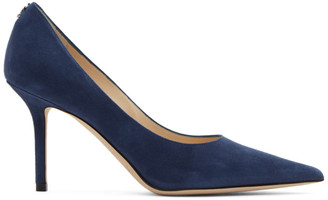 Jimmy Choo Navy Suede Love 85 Heels
