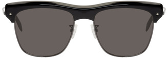 Alexander McQueen Black Metal Skeleton Sunglasses