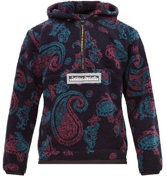 Aries Half-zip Paisley Fleece Jacket - Mens - Multi