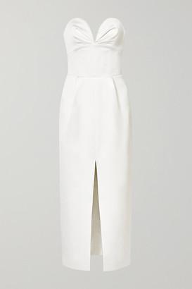 Rasario Strapless Satin Gown - Ivory