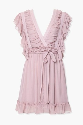 Forever 21 Surplice Chiffon Mini Dress