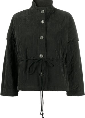 Song For The Mute Ruched Tie-Waist Jacket