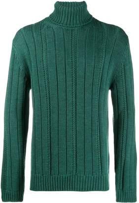 Dondup turtleneck ribbed knit sweater