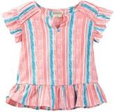 Lucky Brand Striped Flutter Sleeve Top (Little Girls)
