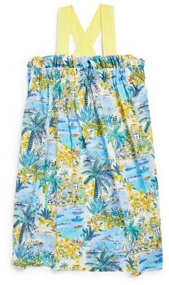 Il Gufo Holiday Print Dress (3-12 Years)