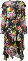 Preen by Thornton Bregazzi floral print ruffle dress - women - Silk - M