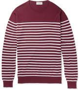 John Smedley Redfree Striped Sea Island Cotton Sweater