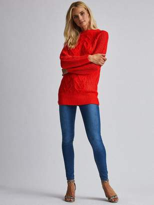 Dorothy Perkins Red Cable Tunic