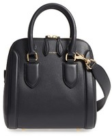 Alexander McQueen Medium Heroine Leather Satchel - Black