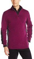 DKNY Men's Longsleeve Quilted 1/4 Zip Sweater