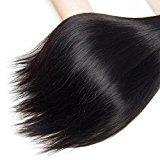 "Jaycee Hair 7a Brazilian Virgin Hair Silky Straight Weft 3 Bundles 100% Unprocessed Human Hair Extensions Natural Color (100+/-5g)/pc( 12"" 14"" 16"")"