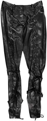 Christian Dior Black Leather Trousers