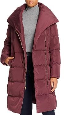 Cole Haan Plus Shawl-Collar Puffer Coat