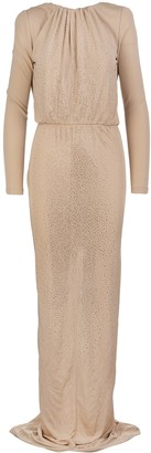 DSQUARED2 Beige Crepe Viscose Crystal Gown