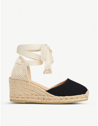 LK Bennett Maureene heeled canvas espadrilles