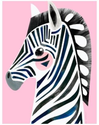 Maxwell & Williams Pete Cromer Wildlife Tea Towel 50x70cm Zebra Pale