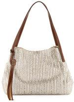 Eric Javits Aura Shoulder Bag w/Tassel, Silver