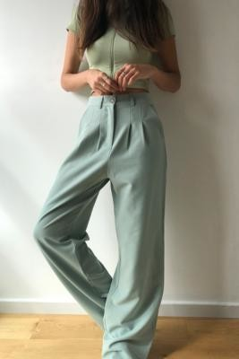Urban Renewal Vintage Urban Outfitters Archive Pale Puddle Trousers - Green XS at Urban Outfitters