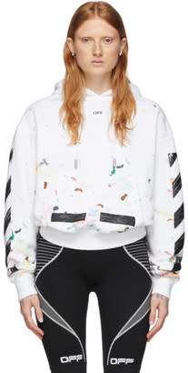 Off-White Off White SSENSE Exclusive White Paint Splatter Hoodie