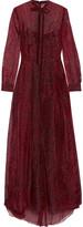 Valentino Leopard-print silk-organza maxi dress