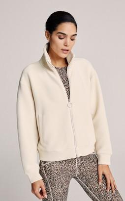 Varley Blomwood Jacket in Oat Milk - medium   cotton