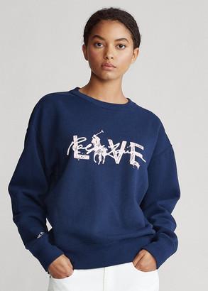 Ralph Lauren Pink Pony Fleece Sweatshirt
