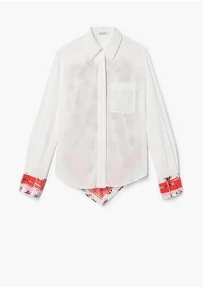 Derek Lam 10 Crosby Long Sleeve Button-Down Shirt With Contrast Back