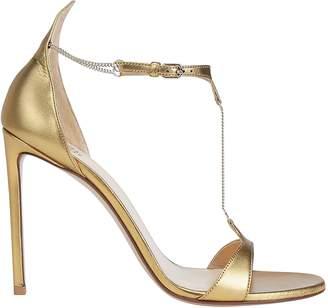 Francesco Russo Stiletto Chain Detail Sandals