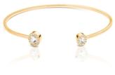 Square Open Cuff With White Sapphires and Diamonds