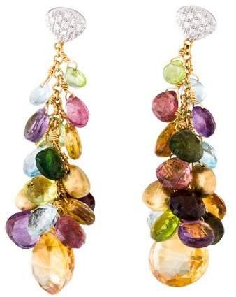 Marco Bicego Diamond Accented Multistone Drop Earrings