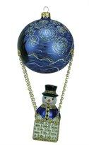 Kurt Adler David Strand Designs Glass Frosty Skies Starry Night Snowman Christmas Ornament
