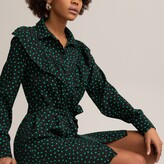 Thumbnail for your product : La Redoute Collections Polka Dot Shirt Dress with Tie-Waist and Ruffles