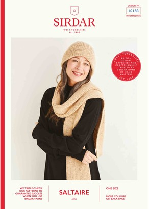 Sirdar Saltaire Hat and Scarf Knitting Pattern