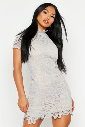 boohoo Boutique Crochet Lace Bodycon Dress