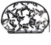 Saks Fifth Avenue Collection Large Tossed Bow Cosmetic Case