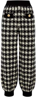 Gucci Houndstooth Check Track Sweatpants