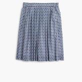 J.Crew Pull-on skirt in gingham clip dot