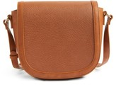 Sole Society Finnigan Faux Leather Crossbody Bag - Brown
