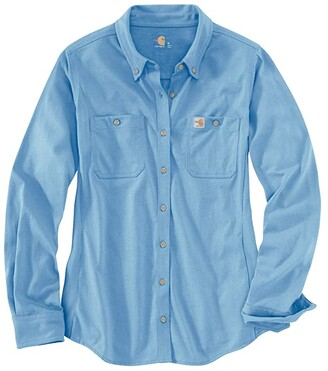 Carhartt Flame-Resistant Force Cotton Hybrid Shirt (Medium Blue) Women's Clothing