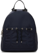 Jil Sander Blue Nylon Backpack