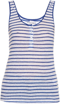Frame Le Nautical striped linen tank top