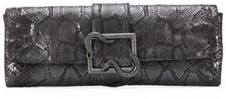 Just Cavalli snake buckle clutch