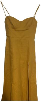 Reformation Yellow Linen Dresses
