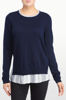 NYDJ Mixed Media Two-Fer Sweater In Petite