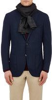 Barneys New York Men's Reversible Wool Scarf-BROWN
