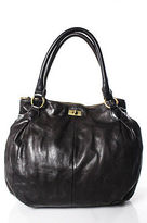 J.Crew J Crew Brown Leather Shoulder Handbag Size Medium