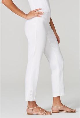 J. Jill J.Jill Stretch Linen Button Hem Ankle Pants